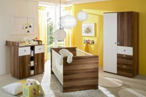 Babyzimmer-Komplett-Kinderzimmer-Babymbel-Wickelkommode-Babybett-WIKI-1-Walnuss-110593348775