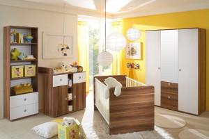 Babyzimmer-Komplett-Kinderzimmer-Babymbel-Wickelkommode-Babybett-WIKI-2-Walnuss-400153499575